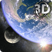 Earth & Moon Gyro 3D Live Wallpaper